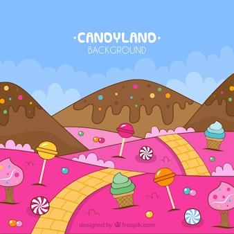 Fond de terre de bonbons colorés