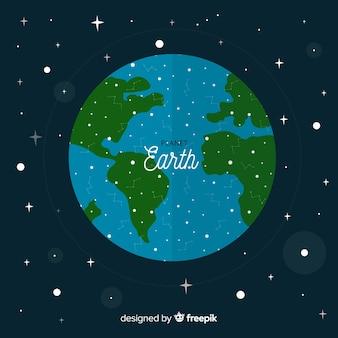 Fond de la terre dans l'univers