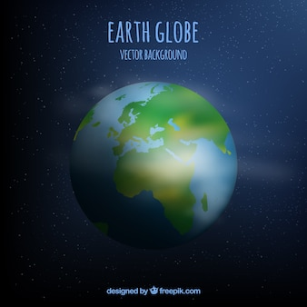 Fond de la terre vecteur globe