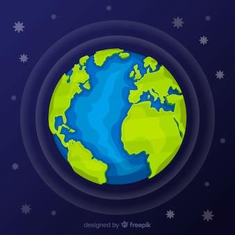 Fond de la terre