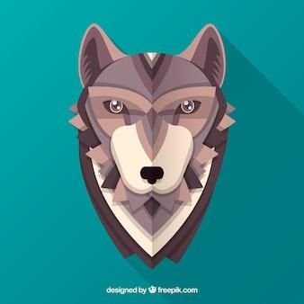 Fond de tête de loup polygonal