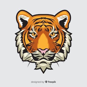 Fond de tête de tigre