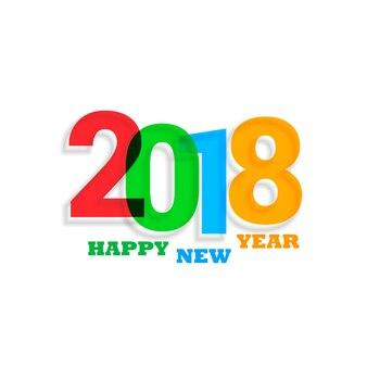 Fond de texte coloré 2018 nouvel an