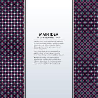 Fond de texte avec un motif coloré. utile pour les présentations, la publicité et la conception web.