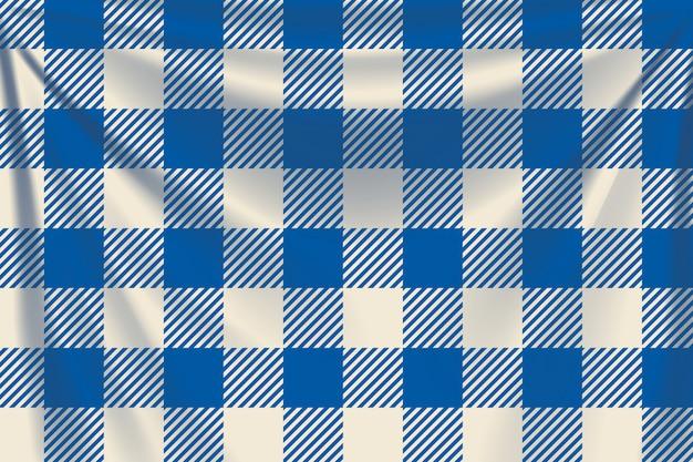 Fond textile carrés bleus