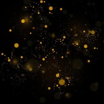 Fond de texture abstrait noir et blanc ou argent glitter et élégant pour. blanc poussière. des particules de poussière magiques scintillantes. concept magique. abstrait avec effet bokeh