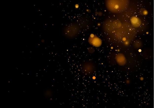 Fond de texture abstrait noir et blanc ou argent, paillettes d'or et élégant pour noël. blanc poussière. particules magiques étincelantes. concept magique. abstrait avec effet bokeh.