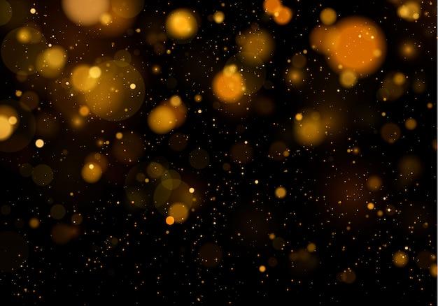 Fond de texture abstrait noir et blanc ou argent, paillettes d'or et élégant. poussière blanche. particules magiques scintillantes. concept magique. abstrait avec effet bokeh.