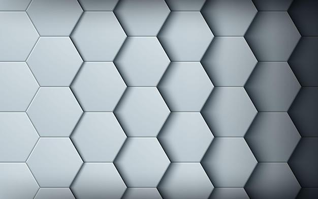 Fond de texture abstraite hexagone blanc