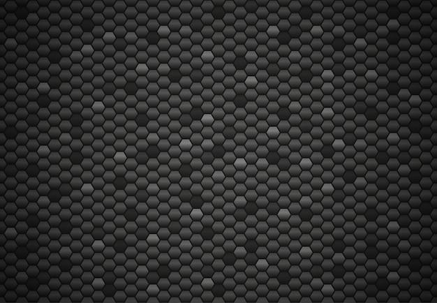 Fond de texture abstraite hexagone noir. illustration vectorielle