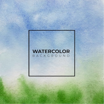 Fond de texture aquarelle abstraite bleu et vert,