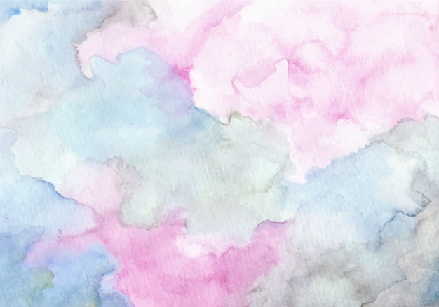 Fond de texture aquarelle abstraite bleu violet doux