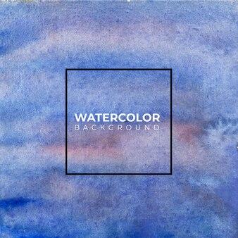 Fond de texture aquarelle abstraite bleue,
