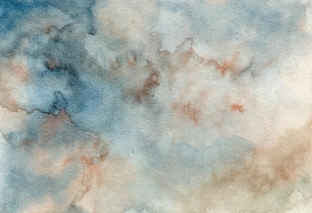 Fond de texture aquarelle abstraite gris bleu