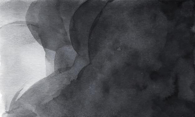 Fond de texture aquarelle abstraite gris foncé.