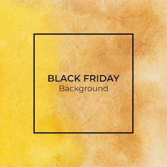 Fond de texture aquarelle abstraite jaune blackfriday