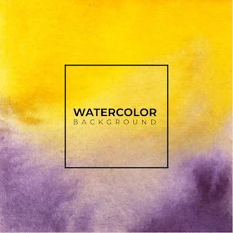 Fond de texture aquarelle abstraite orange et violet,