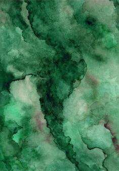 Fond de texture aquarelle abstraite vert foncé
