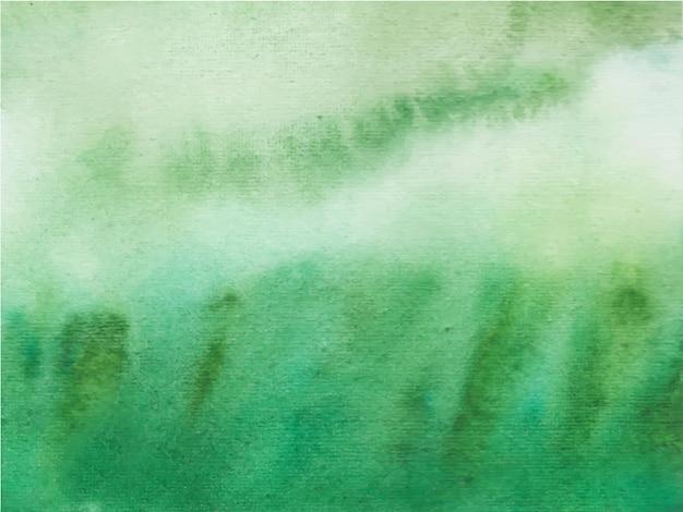 Fond de texture aquarelle abstraite verte.