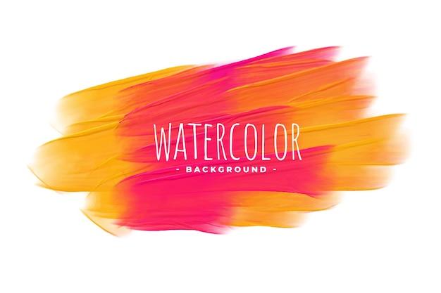 Fond de texture aquarelle jaune et rouge