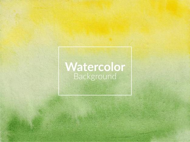 Fond de texture aquarelle vert et jaune