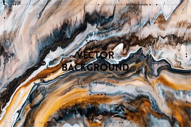 Fond de texture d'art fluide avec une image acrylique liquide à effet de peinture irisée abstraite qui coule ...
