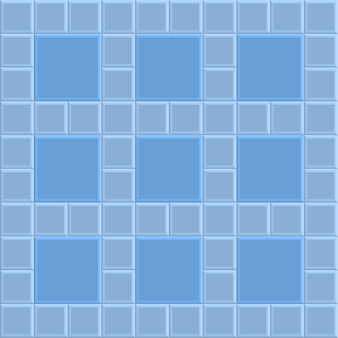Fond de texture de brique en pierre 3d, motif illustration vectorielle bleu