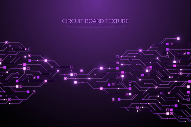 Fond de texture de circuit imprimé abstrait technologie. circuit imprimé futuriste de haute technologie