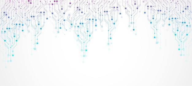 Fond de texture de circuit imprimé de technologie. circuit imprimé abstrait