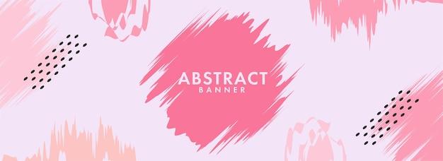 Fond de texture de coup de pinceau rose abstrait. conception d'en-tête ou de pied de page.