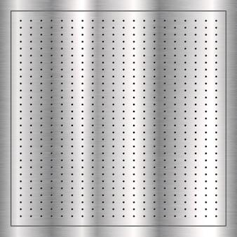 Fond de texture avec un design en métal brossé argenté