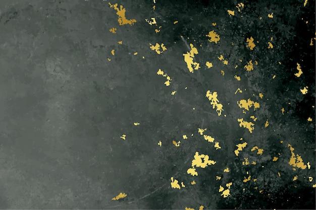 Fond de texture de feuille noire et dorée