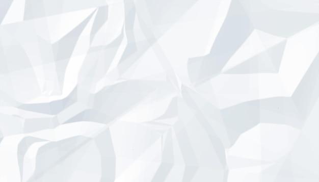 Fond de texture de feuille de papier froissé blanc