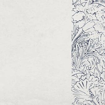 Fond texturé floral gris avec bordure