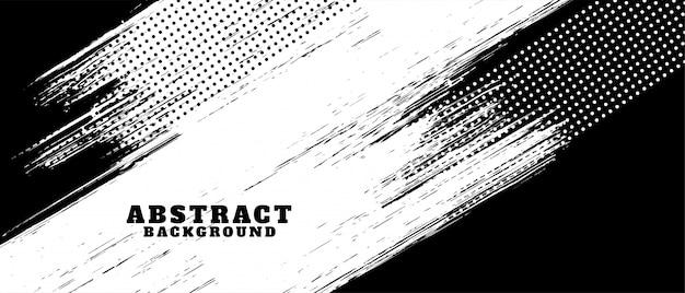 Fond de texture grunge abstrait noir et blanc