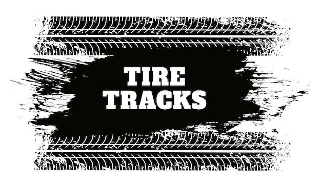 Fond de texture grunge piste pneu abstrait