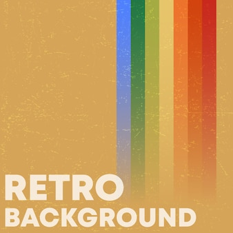 Fond de texture grunge rétro avec des rayures colorées vintage.