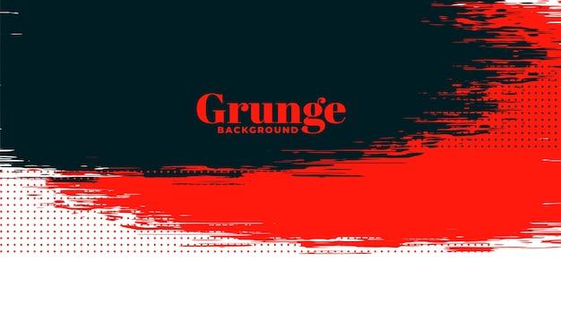 Fond de texture grunge rouge, noir et blanc