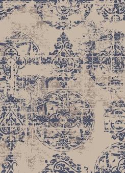 Fond de texture de luxe royal. modèle baroque grunge vintage
