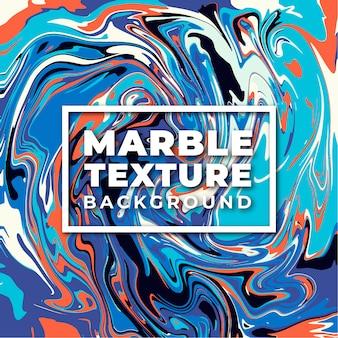 Fond de texture marbre élégant orange et bleu