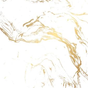 Fond de texture marbre en or et blanc