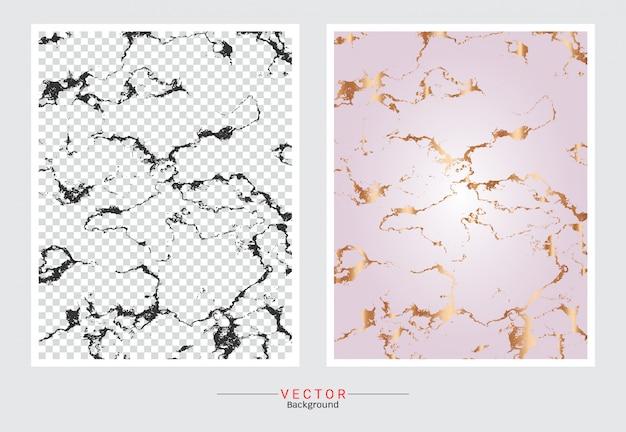 Fond de texture marbre or rose.