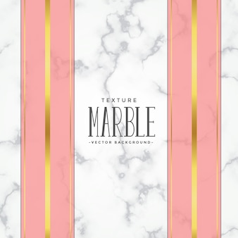 Fond de texture de marbre avec des rayures roses et or