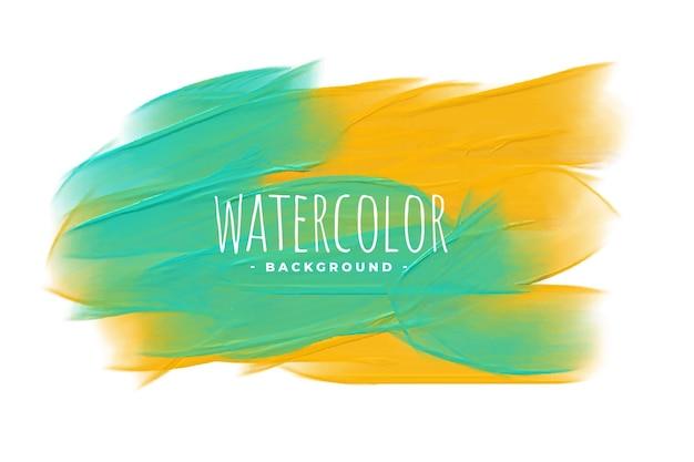 Fond de texture mélange aquarelle jaune et vert