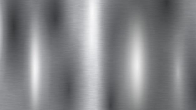 Fond avec texture en métal argenté