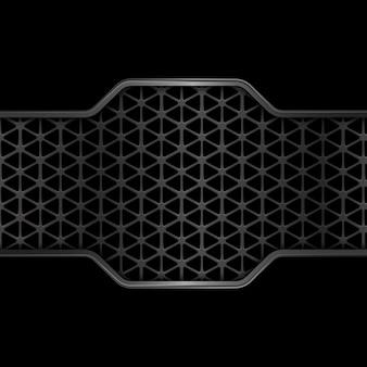 Fond de texture en métal noir. géométrique. abstrait