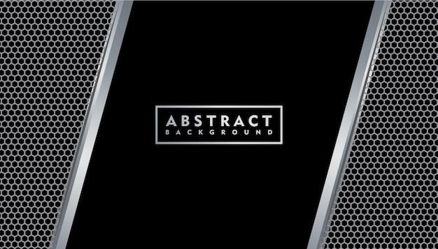 Fond de texture en métal noir réaliste