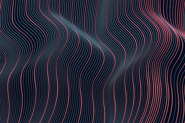 Fond de texture de motif art ligne ondulée dynamique