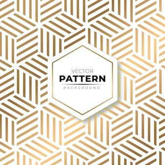 Fond de texture de motif or isométrique moderne