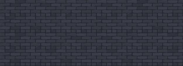 Fond de texture de mur de brique. illustration numérique de brickwall de couleur noire.